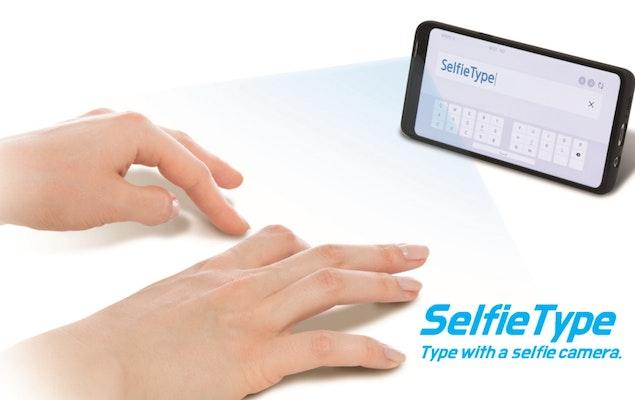 """SelfieType de Samsung es el teclado que permitirá """"escribir en el aire"""""""
